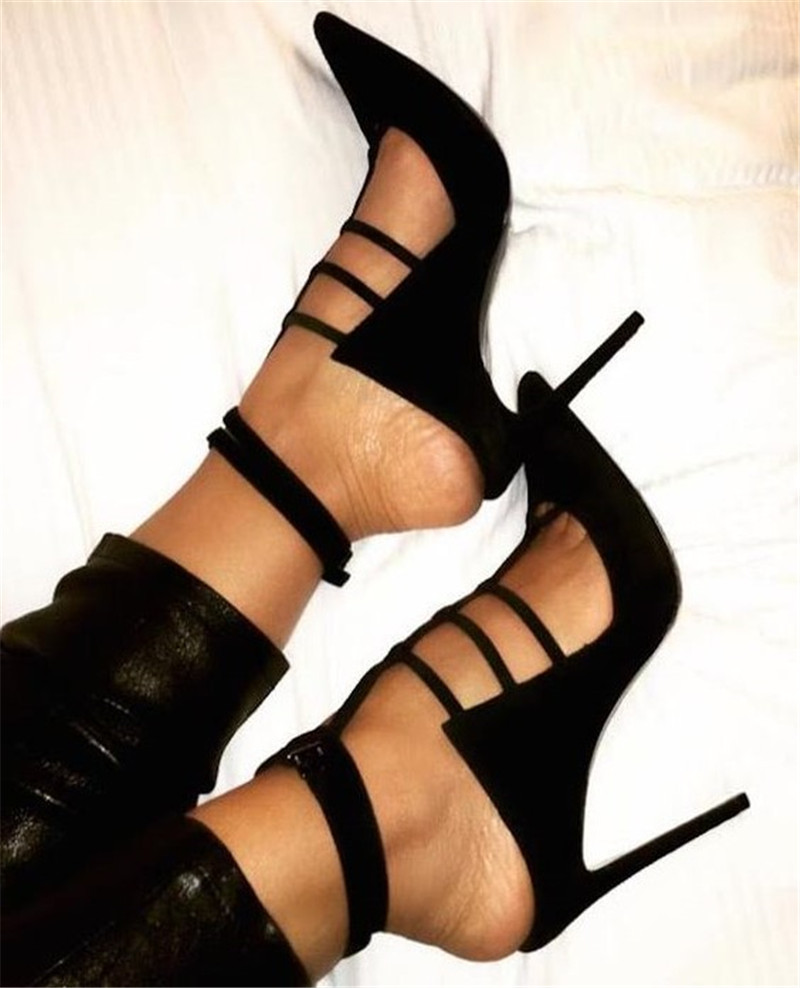 Sestito Woman Cut-outs Slingback Shoes Ladies Pointed Toe Stiletto High Heels Summer Gladiator Sandals Girls Buckle Strap Shoes стоимость