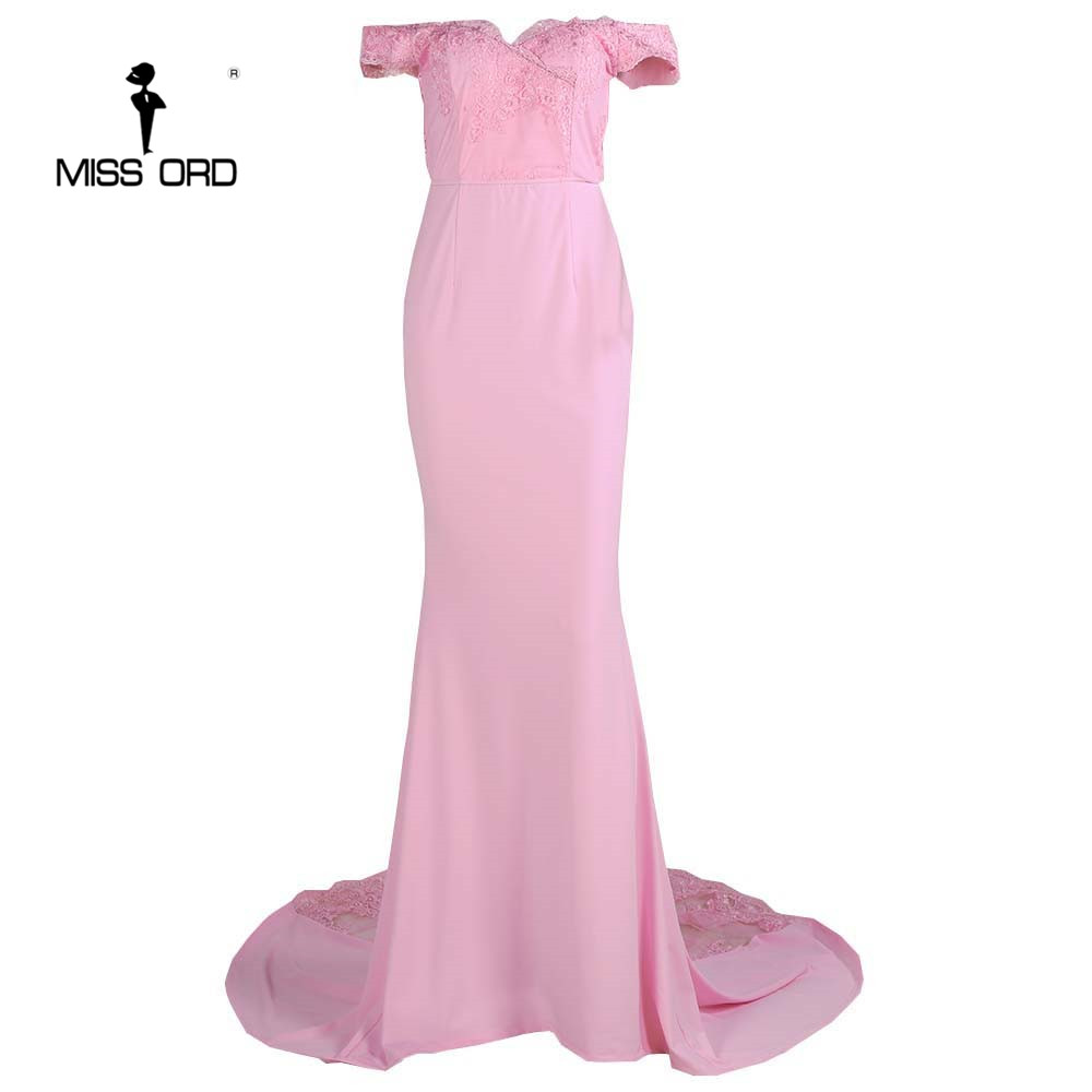 فستان سهرة  Missord جذاب مع ذيل وذو تصميم مميز 14