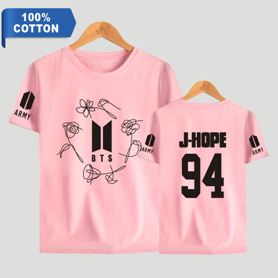 BTS 100% Cotton K-Pop Bangtan Boys T Shirt Love Yourself ARMY Print Short Sleeve T-shirts Women Fashion Tee Shirts Clothes
