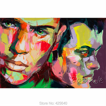 Palette knife painting portrait Palette knife Face Oil painting Impasto figure on canvas Hand painted Francoise Nielly 8
