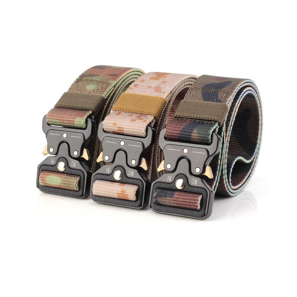 Camouflage Jungle Desert Mens Tactical Belt Military Belts Outdoor Multifunctional Training Belt High Quality Strap Ceintures Men's Belts