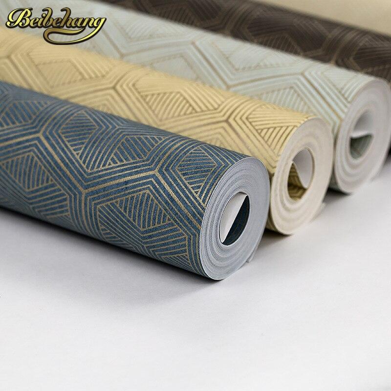 Beibehang Papel De Parede 3D Retro Hexagon Geometry Wallpaper For Bedroom Living Room Wall Paper Roll