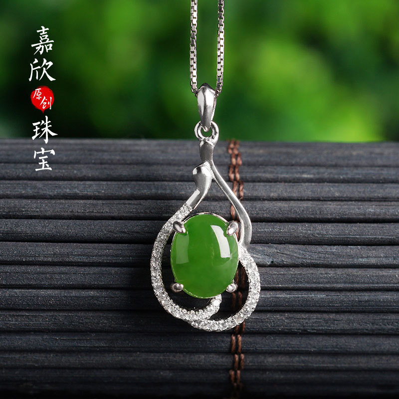 2019 Limited Real Asg Choker Necklace Hetian Sautoir 925 Inlaid Pendant With Certificate Of Manufacturers Selling National Wind 2019 Limited Real Asg Choker Necklace Hetian Sautoir 925 Inlaid Pendant With Certificate Of Manufacturers Selling National Wind