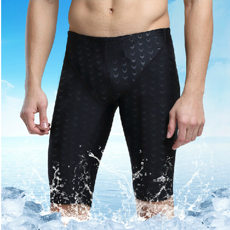 SBART Swimwear Professional Quality Men Competitive Swim Trunks Jammers swimming trunks sharkskin sunga