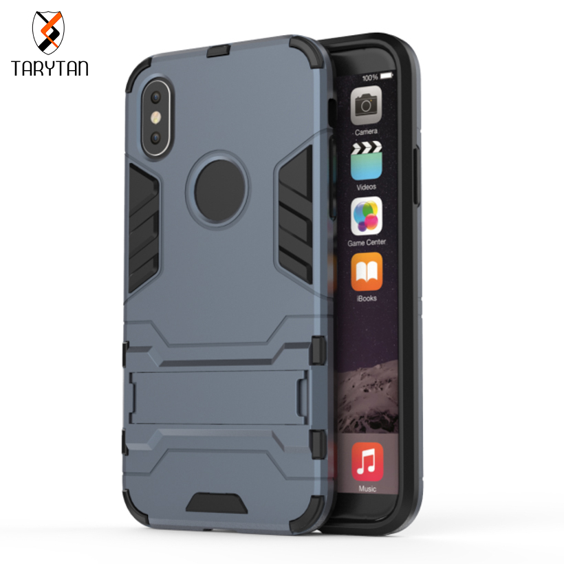 TaryTan 2 in 1 armor cases Mobile Phone Protective Cases For Apple iPhone X iPhone 10 iPhone Ten Case PC+TPU Hybrid Robot Armor