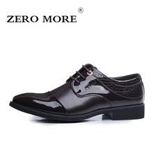 ZERO MORE Microfiber Leather Men Shoes Lace-up Spring Autumn Men Formal Shoes Men Wedding Shoes 38-44 EU dimension Free Shipping