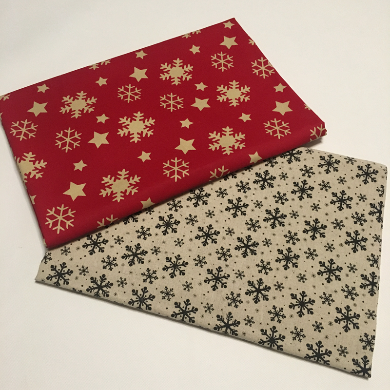Hot sale 155x50 cm christmas snowflake pattern printing for Sewing material for sale
