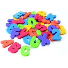 Baby Bath Toys 36Pcs/set Soft Foam Letters Numbers Bath alphanumeric foam Classic Baby Early Educational Tools Kids Bathing Toy