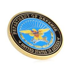 Coin Army Navy Air Force Marines The Pentagon Military Gold Plated Commemorative Coin
