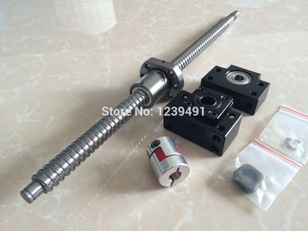 SFU2005 - 1000/500/700mm ballscrew  with SFU2005 METAL DEFLECTOR Ballscrew nut + BK15 BF15 Support + Coupling CNC parts 2005 ballscrew 1500 1500 1000 500mm sfu2005 metal deflector ballscrew nut 4set bk15 bf15 support 4pcs coupler 4pcs nut housing
