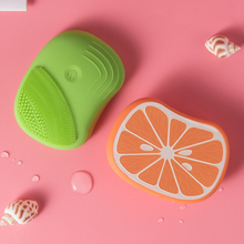 Fruit Mini Face Electric Face Cleaning Brush Massager Ultrasonic Skin Scrubber Instrument Soft Silicone Facial Cleansing Device