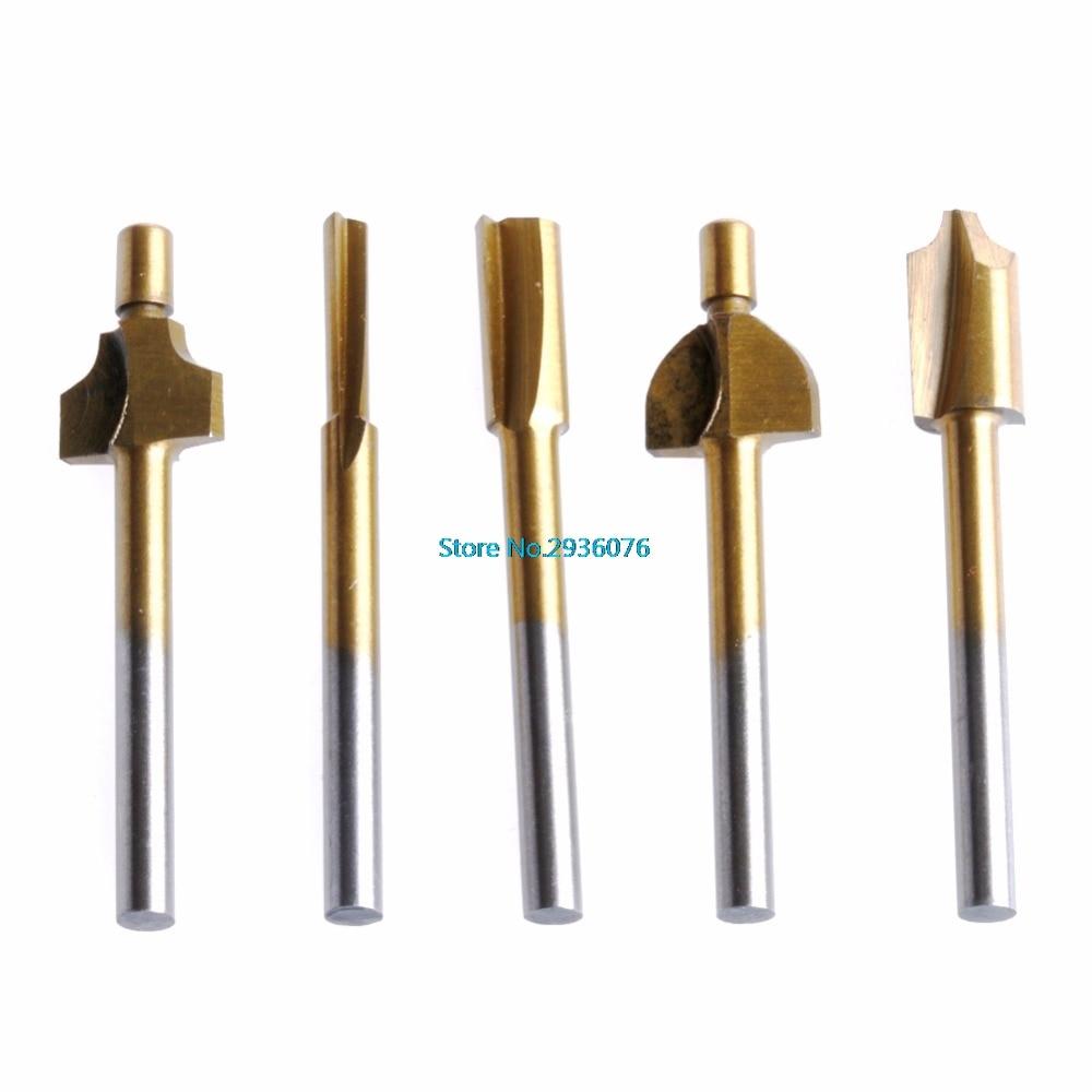 10 sztuk / zestaw 3mm Titanium Mini Hss Bity routera Trymer Shank For - Akcesoria do elektronarzędzi - Zdjęcie 3