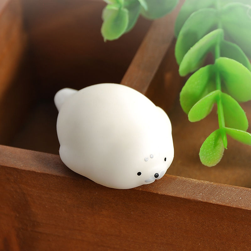 Tiny Stretch Sea Lion Hold Squeeze With Box Soft Toy Press Doll squishy