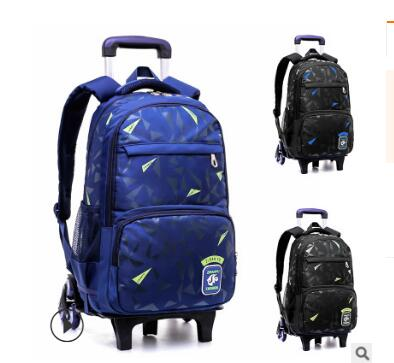 Ziranyu School Bags Trolley Rolling Backpack For Boys Kids Student