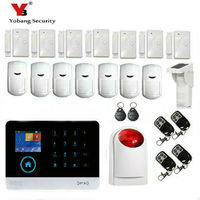 YobangSecurity GSM WIFI Alarm System Wireless Security GPRS Home Burglar System with Outdoor Waterproof Solar PIR Motion Sensor