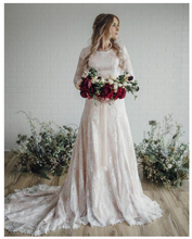 Lace Beach Wedding Dress Mermaid 2019 Long Sleeves Gowns Floor Length Elegant Simple Bridal Gown New Arrival