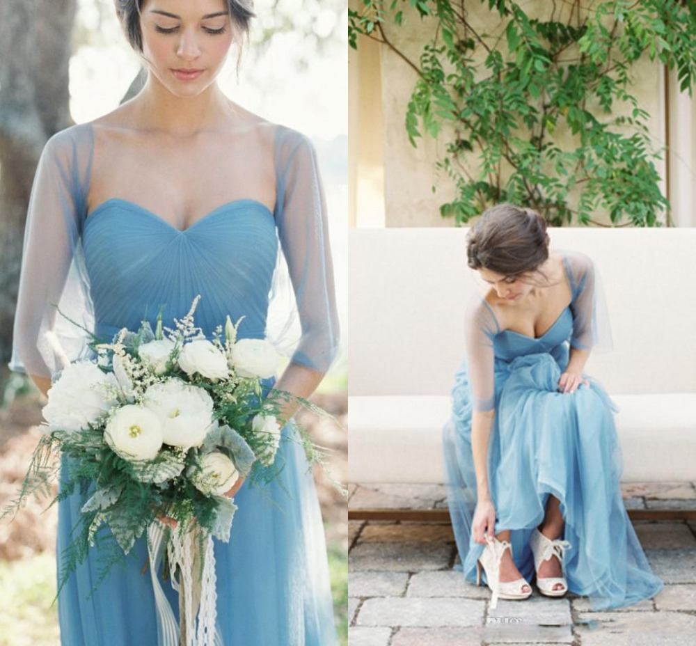 Compare prices on bridesmaid dress convertible online shopping blue convertible bridesmaid dresses with free wrap maid of honor dress a line sweetheart floor ombrellifo Image collections