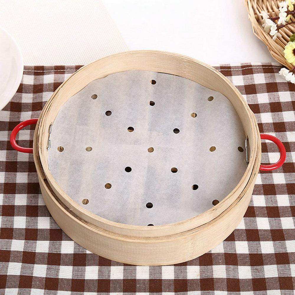 Non-Stick White Steamer Dim Sum Paper Restaurant Kitchen Under Steamers Mat Kitchen Cooking Tools Accessories Drop Shipping