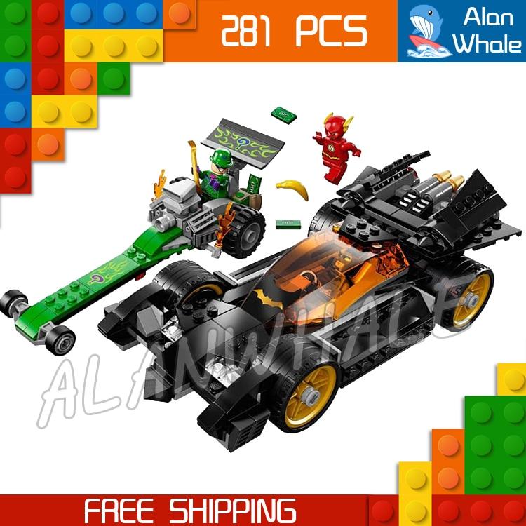 281pcs Batman Bela 10227 DC Comics The Riddler Chase The Flash Super Heroes DIY Building Blocks Compatible with Lego брелок фонарик для ключей lego dc super heroes batman