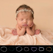 Soft Children Like beautiful born Baby Mohair Pearl Headband Headwear Hair Accessories Photography Props Gift Drop Ship(China)