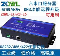 Six Serial Server RS232 RS485 RS422 Network Modbus TCP To RTU