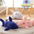 Симпатичные Синий Розовый Серый Акула Плюшевые Игрушки Мягкие Игрушки Рождественский подарок для Ребенка