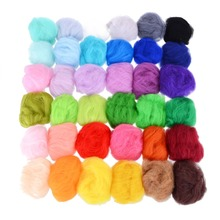 36 Colors 3g Felting Wool Fiber Felt Starter Kit For Needle Roving Dyed Spinning Wet DIY Crafts
