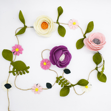 1.2m Non Woven Felt Fabric Artificial Flower Garland Rattan Handmade DIY Materials Package Wedding Decoration Kits