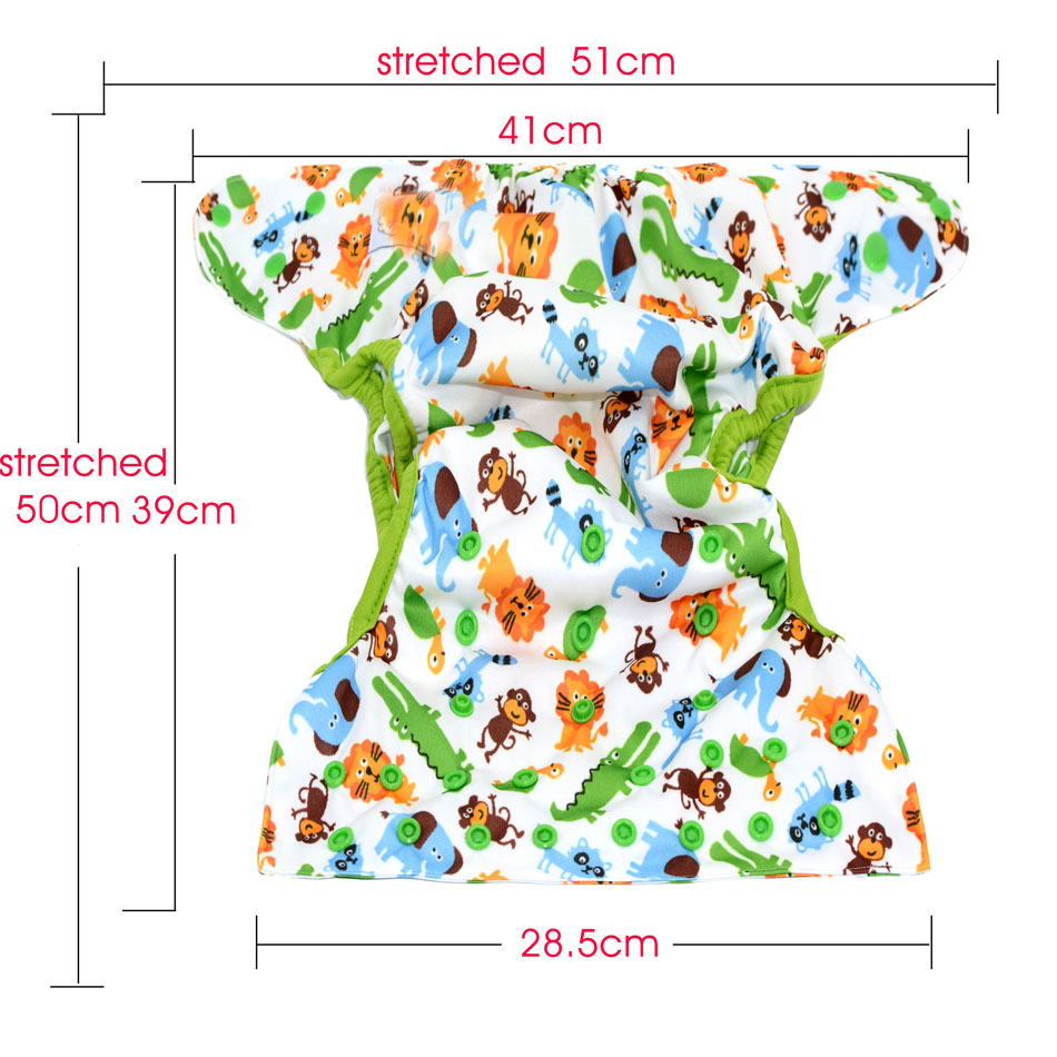 Printed Adjustable Cloth Fitted Diaper
