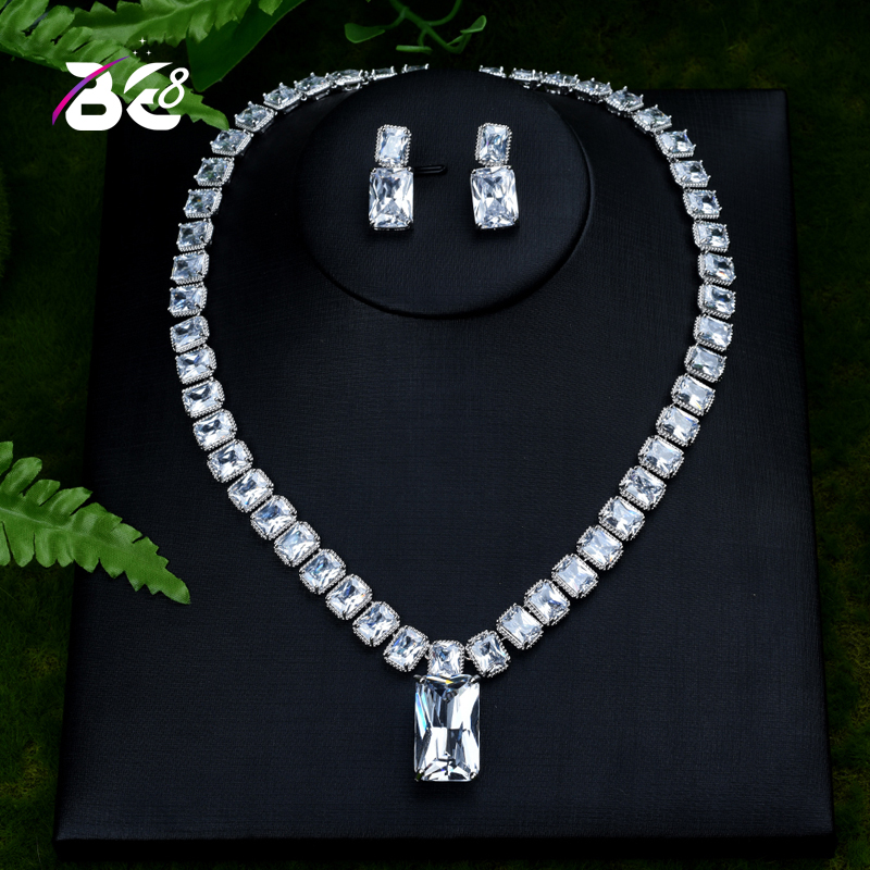 Be 8 New Design Luxury AAA Zircon Water Drop Shape Necklace Pendant Set for Women,High Quality Party/Jewelry Wedding  S404Be 8 New Design Luxury AAA Zircon Water Drop Shape Necklace Pendant Set for Women,High Quality Party/Jewelry Wedding  S404