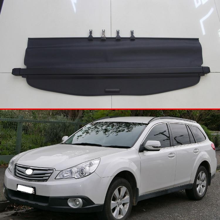 Pour Subaru Outback 2010-2014 aluminium + toile couverture arrière de la cargaison