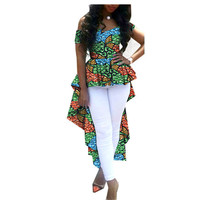 African Dresses for Women 2019 Kangga African Print Dresses Clothes Shoulder Coat Long Double Ankle Plus Size African Clothes