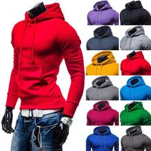 ZOGAA New mens fashion hoodie Pullover Men Hooded Jacket Plus Size 2XL Cotton Sweatshirt