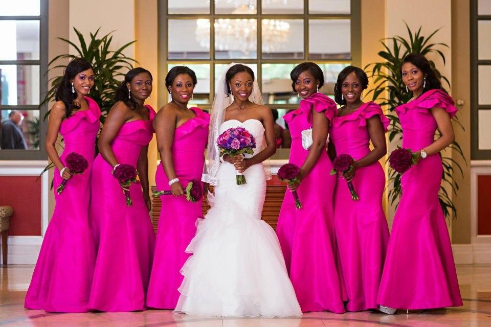 Hot Pink Bridesmaids Dresses - Ocodea.com