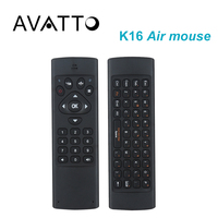 [AVATTO] K16 히브리어/영어 2.4 천헤르쯔 무선 키보드 3 축 자이로 IR 학습 플라이 에어 마우스 스마트 TV, 안드로이드 상자, 미니 PC