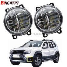 2pcs/Set Car Styling Led Fog Lights High Brightness white Fog Lamps 12V H11 For Renault Duster Closed Off-Road Vehicle 2012-2015