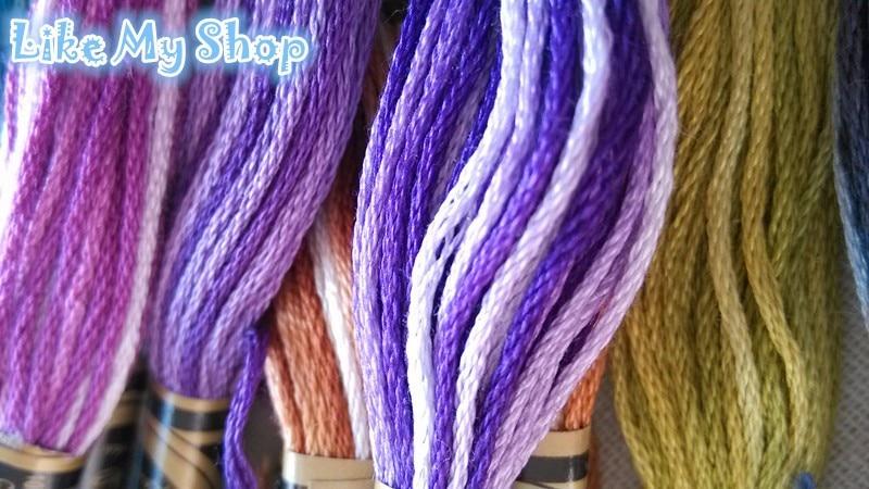 Похожие DMC, разные цвета, пестрая хлопковая нить для вышивки/нить для вышивки крестиком, 35 цветов