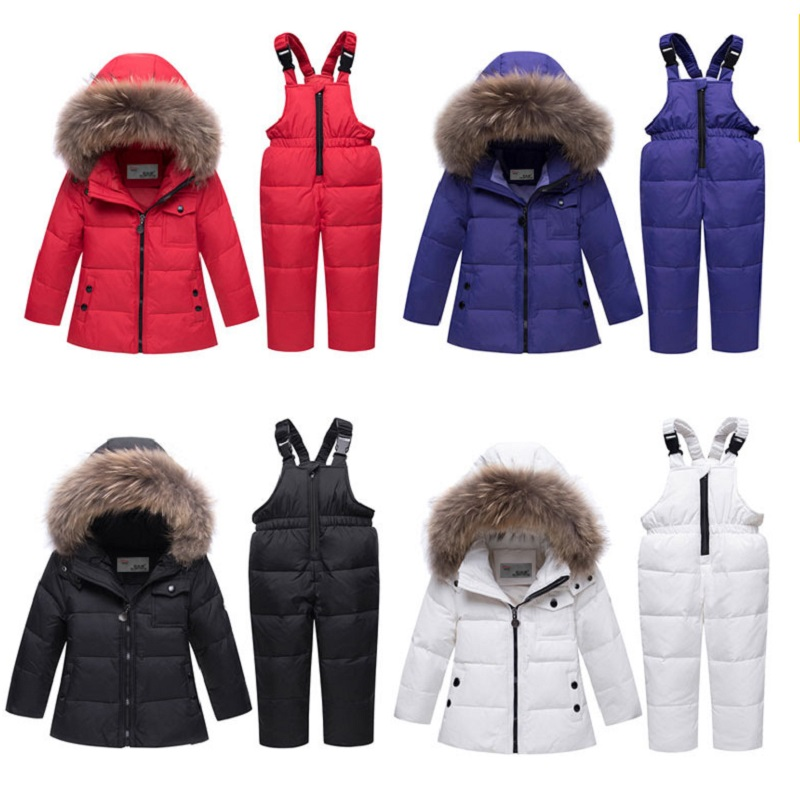Baby Down Jackets Suits 2018 New Girl And Boy Winter Jackets Coat Fur Collar Tops + Pants Girls Outfit  Kids Snow Suit23456yearsBaby Down Jackets Suits 2018 New Girl And Boy Winter Jackets Coat Fur Collar Tops + Pants Girls Outfit  Kids Snow Suit23456years