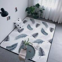 цена на Nordic cartoon Print entrance door mat Kids Living room bedroom Game Rug kitchen Non-slip Carpet Baby Children Room Crawling mat
