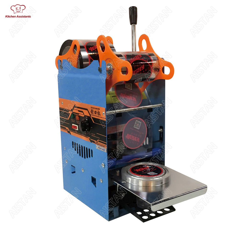 WY802F Hand Held plastic beverage bubble tea cup sealing machine for cup sealing firm type Heavy Duty 220V 110V цена и фото