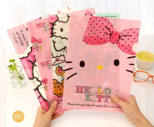 b174ff141 Cute Hello Kitty Paper Holder Hello kitty File Holder Paper Organizer for  School and Office Book Cover