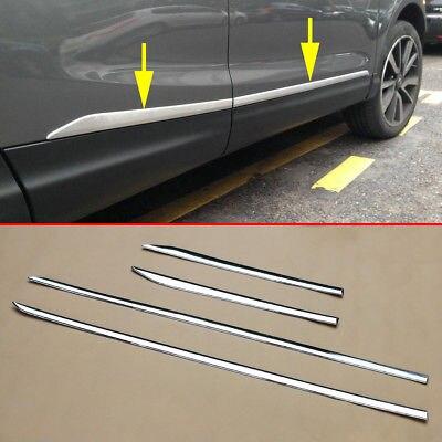 Pour Nissan Rogue Sport Qashqai J11 Chrome corps de porte bandes moulage accessoires