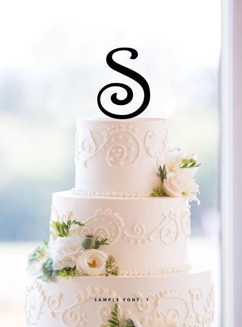 Free Shipping Wholesale 10pcslot Letter S Acrylic Wedding Cake