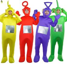 Kuum müük Teletubbies kostüümid Cartoon maskott Cosplay karneval pool Teletubbies Movie Jumpsuit Performance Teletubbies