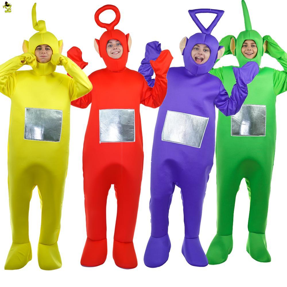 Vendita calda Teletubbies Costumi Della Mascotte Del Fumetto Del Partito Cosplay di Carnevale Teletubbies Teletubbies Movie Tuta Prestazioni
