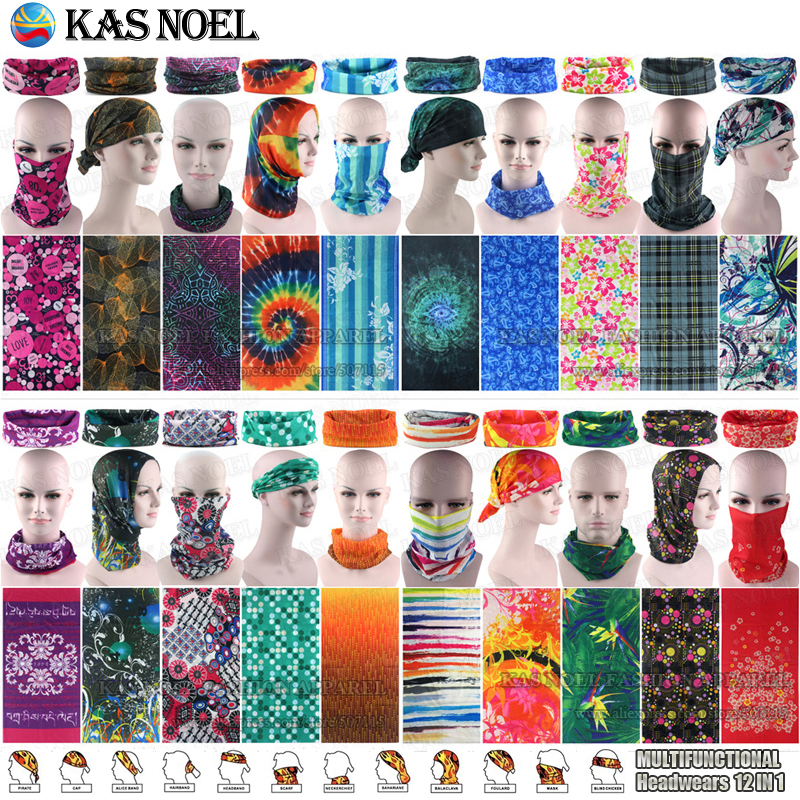 Top Popular Gaya Wanita Pretty Microfiber Multi Purpose Bandana Bandana Percetakan Scarf Multifunction Destar
