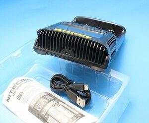 Image 4 - 100% oryginalny NITECOR UM4 UM2 LCD USB QC inteligentna ładowarka do akumulatora Li ion IMR INR ICR LiFePO4 18650 14500 26650 AA 3.7V 1.2V 1.5V