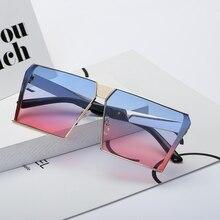 Oversized Rectangle Sunglasses Women Street Fashion Trend 2019 Style Ocean Lenses Sun Glasses