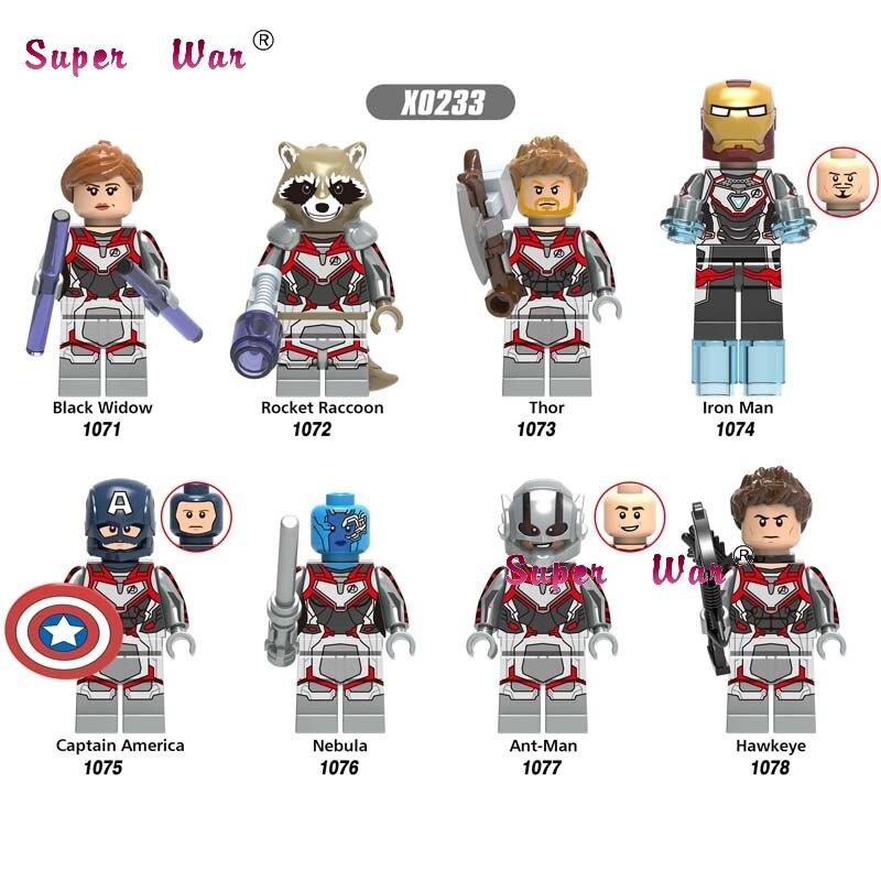 50pcs Super Heroes Marvel Avengers 4 Endgame Thor IronMan Hawkeye Black Widow War Machine building block