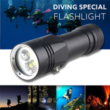 Diving Flashlight 3 Mode Diving Torch for Photography White & Red LED Light Underwater Video Scuba Flashlight diving video d34vr 5000 lumen underwater flashlight 4xcree xml2 led white light linterna buceo video 26650 scuba dive torch lamp